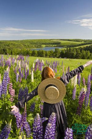 A young actress portraying PEI's beloved Anne of Green Gables.  #Canada #PEI