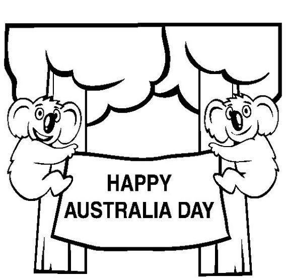 Australia Day Coloring Pages for Kids
