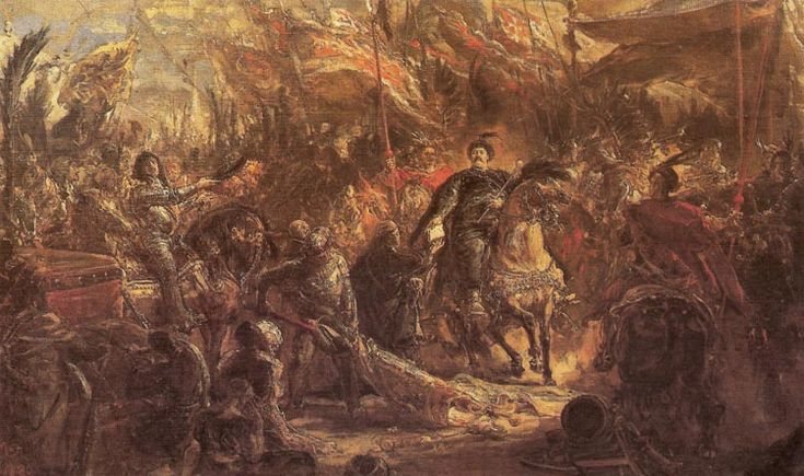 King John III Sobieski Presenting Canon Denhoff with a Letter to the Pope - Jan Matejko