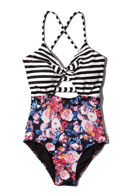 The 30 Best Swimsuits For $50 Or Less #refinery29 @rox http://www.refinery29.com/cheap-swimsuits#slide-14 Two rad prints for the price of one.