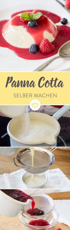 """Der Klassiker unter den italienischen Nachspeisen ist überall beliebt. Das ist auch kein Wunder! Er ist frisch, leicht im Geschmack und passt deswegen wunderbar um ein köstliches Essen perfekt abzurunden oder auch einfach mal so zwischendurch. Gerade in den warmen Monaten bietet Panna Cotta als """"Pudding des Sommers"""" eine Alternative zu Eis."""