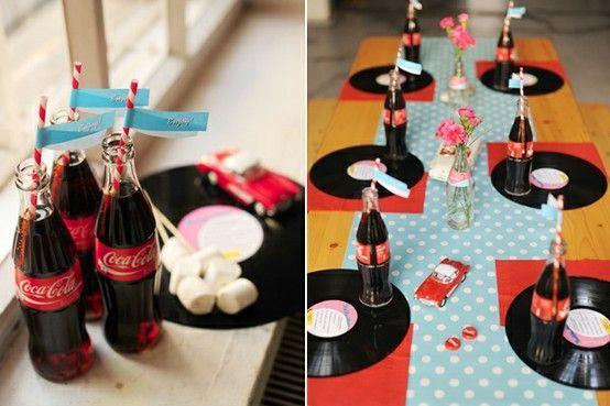 50's birthday party ideas   50's decor