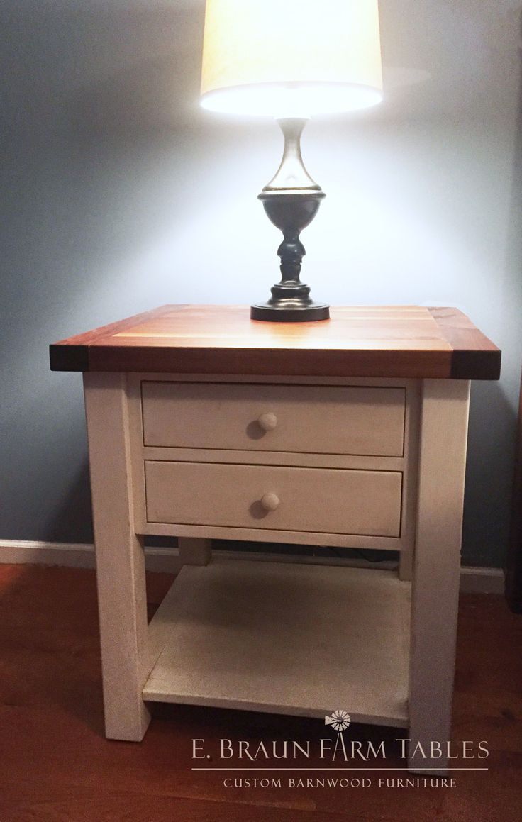 Black Walnut Top And Pine (painted) Base Make This Nightstand Stylish And  Functional   We Make Custom Furniture Using Reclaimed Wood From Dismantled  Barn ...