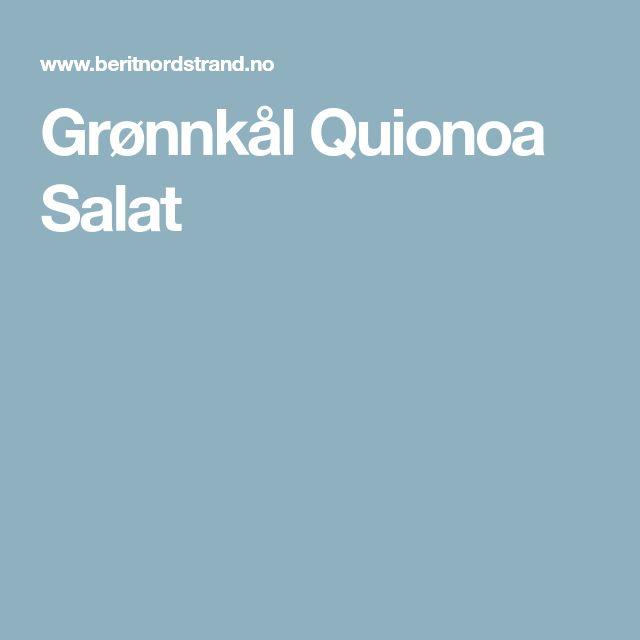 Grønnkål Quionoa Salat