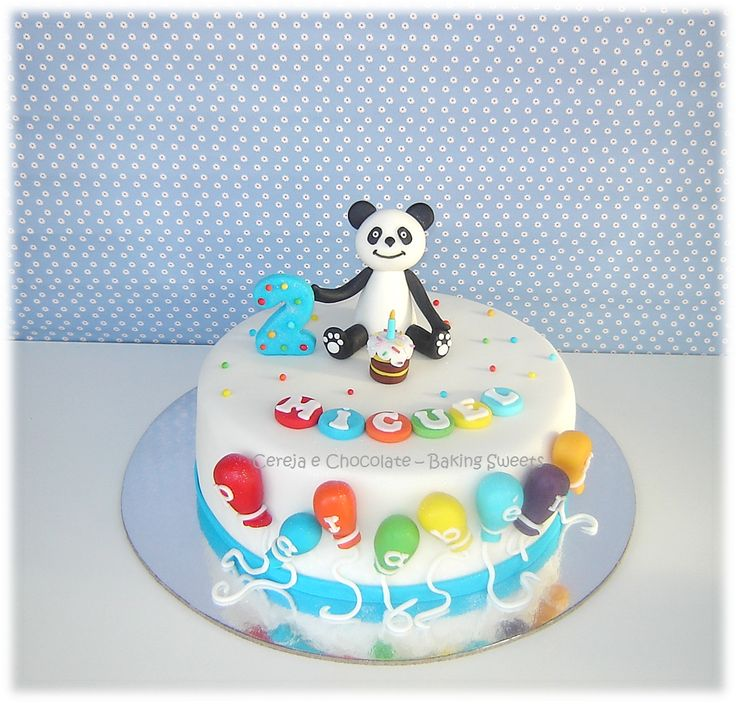 Cereja e Chocolate - cakes, cupcakes & cookies: O bolinho do Miguel...Ursinho Panda#.Utv9Hsup3cs
