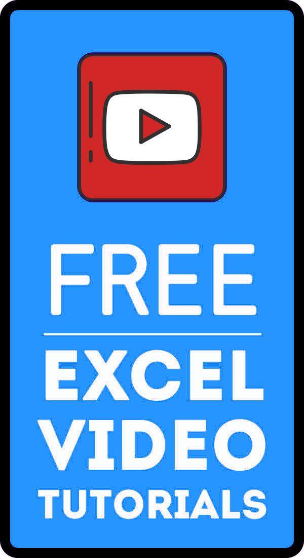 Free Excel Tutorials Videos Excel Tutorials Microsoft Excel Tutorial Learning Microsoft