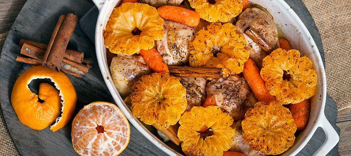 kippenbouten met mandarijn, voor een gezellig diner tijdens sinterklaas