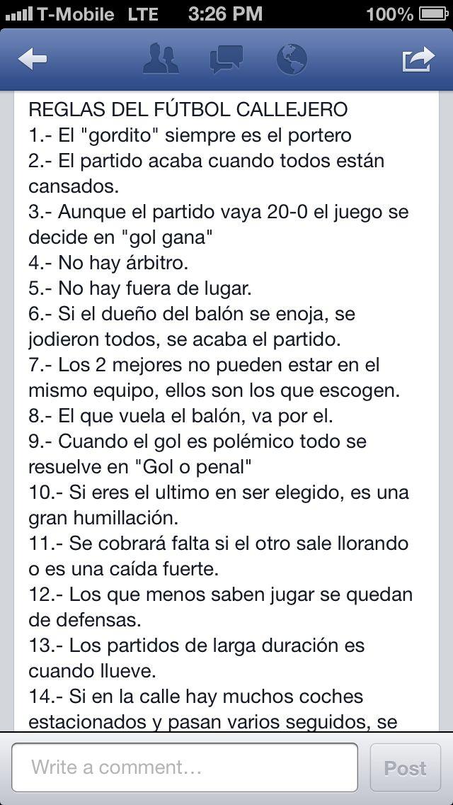 Reglas del Futbol Callejero