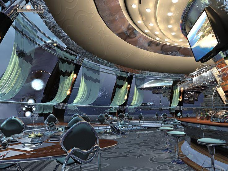 Space Bar By AlexWild On DeviantArt Futuristic InteriorFuturistic DesignFantasy