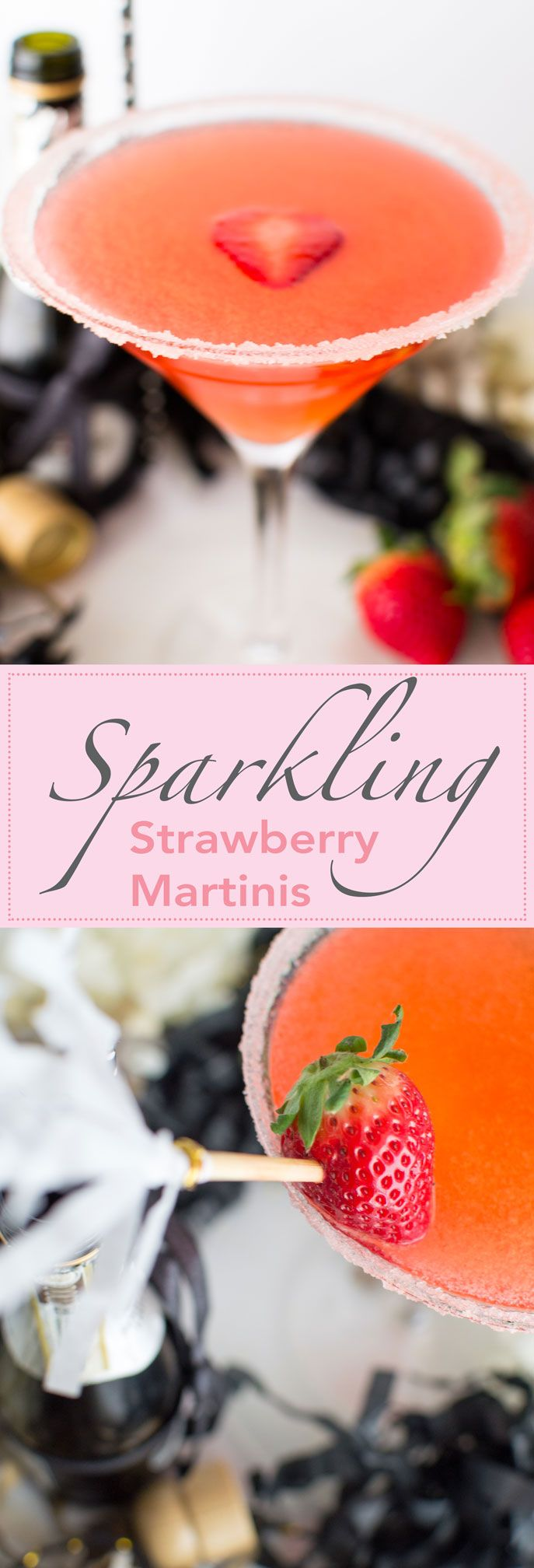 Muddled strawberries, vodka & champagne make this festive cocktail dangerously easy to enjoy!