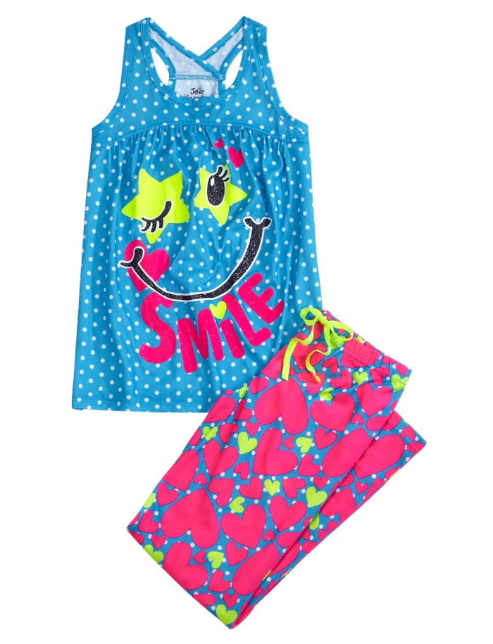 Smile 2pc Pajama Set | Pant Sets | Pajamas | Shop Justice