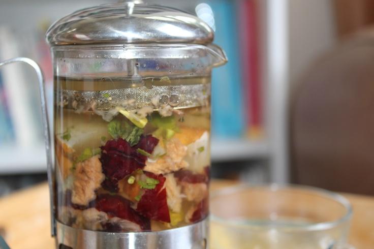 jujube fruits & asian pears homemade tea