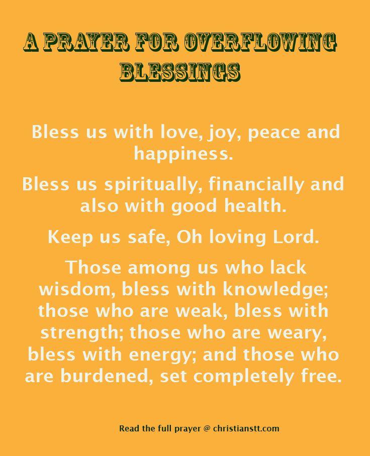 PRAYER: OVERFLOWING BLESSINGS