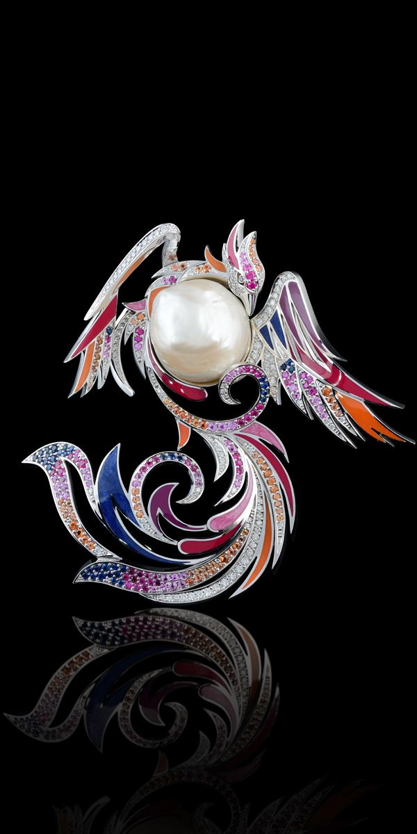 Master Exclusive Jewellery - Collection - Birds of paradise brooch, ht