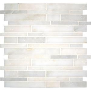 Ms International Greecian White Interlocking 12 In X 12 In X 10 Mm Polished Marble Mesh Mounted Mosaic Tile 10 Sq Ft Case