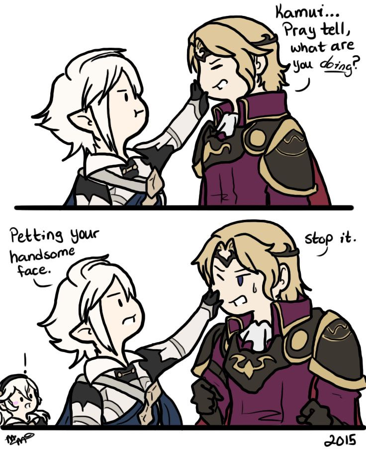Sometimes I forget you can stroke people's faces in the new fire emblem.