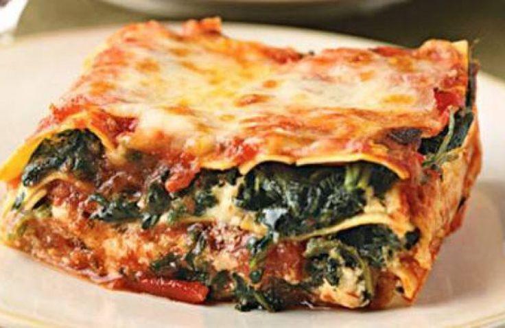 Spinazie pesto lasagne