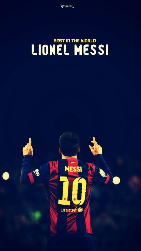 593.  Wallpaper (iPhone): Messi - Greatest. via @barcastuff
