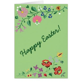Easter greetig card- folk motifs greeting card