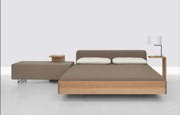 Double bed with upholstered headboard FUSION - ZEITRAUM
