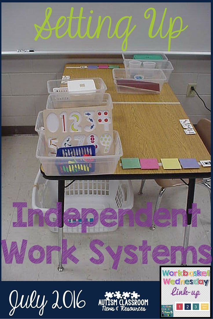 Setting up independent work systems in a special education classroom can be a challenge. This post includes different models and things that work for me.
