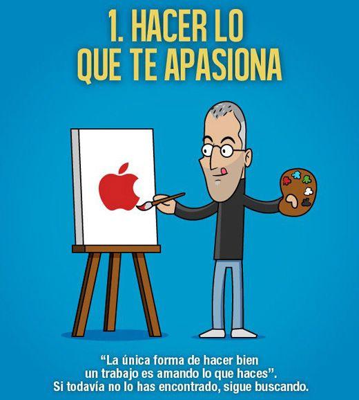 Las mejores frases ilustradas del genio Steve Jobs para emprendedores vía http://javierlopezdiaz.com