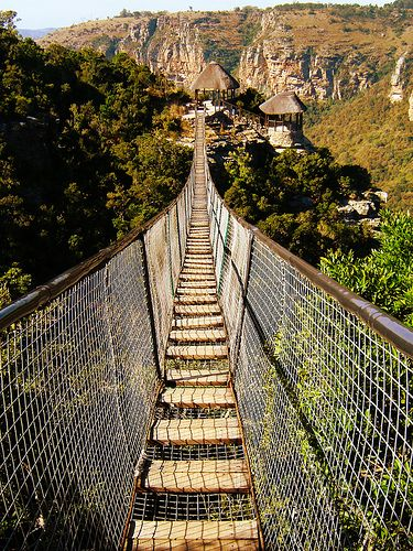 Swing Bridge at Oribi Gorge . South Africa