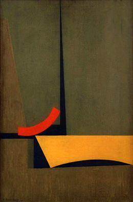 Marcelo Bonevardi, Arco rojo (1967), óleo sobre tela.