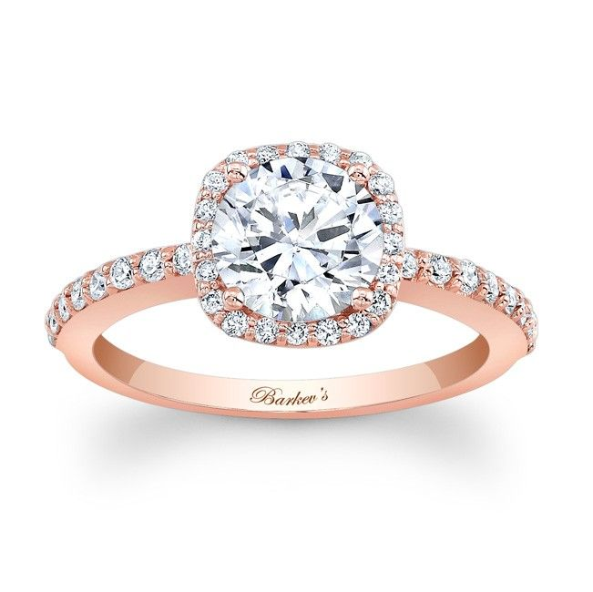 Beautiful rose gold engagement ring.