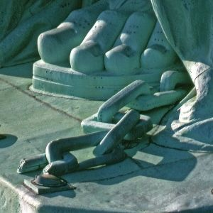 The Statue of Liberty Facts - The Chains at the Feet of the Statue of Liberty that Can Only Be Seen From an Aerial Vantage Point. The Chains Were The Artist's Recognition of the End of Slavery.