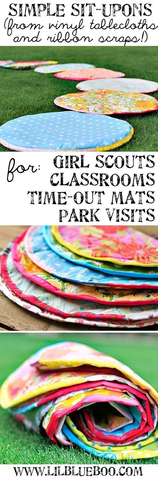 Make some simple sit-upons for your reading circle. | 36 Clever DIY Ways To…