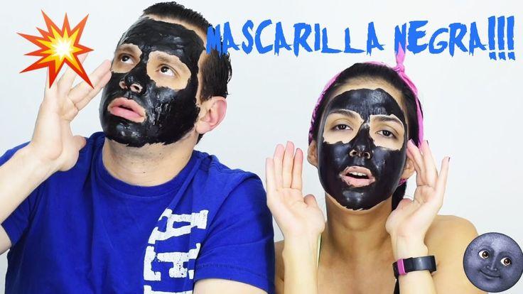 🌚 Probando mascarillas negras con mi novio! 🌚