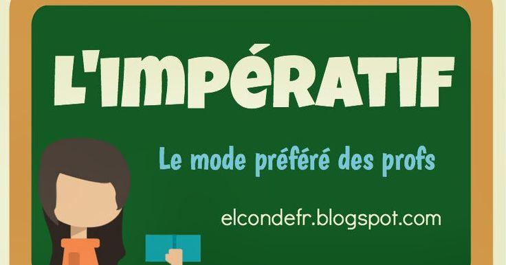Pour donner des ordres et des instructions, on utilise l'impératif, un mode verbal que les professeurs utilisent beaucoup!      Voici quelqu...