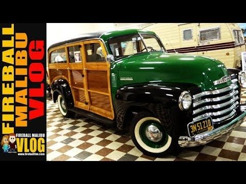 RESTORED 1952 CHEVY SUBURBAN WOODIE - FIREBALL MALIBU VLOG 688 SUBSCRIBE TO #FIREBALLMALIBUVLOG @ http://ift.tt/12aPqeo RESTORED 1952 CHEVY SUBURBAN WOODIE - FIREBALL MALIBU VLOG 688 - Fireball and Kathie head to the Murphy Museum to return the '62 Pickup spot a fully restored 1952 Chevy Suburban Woodie. The next day it's off to Wheels and Windmills in Solvang! FIREBALL'S BOOKS ON AMAZON! http://ift.tt/2faxJCq THE FIREBALL #MALIBU VLOG STORE! New HATS & MUGS that support a Malibu #Vlogger…