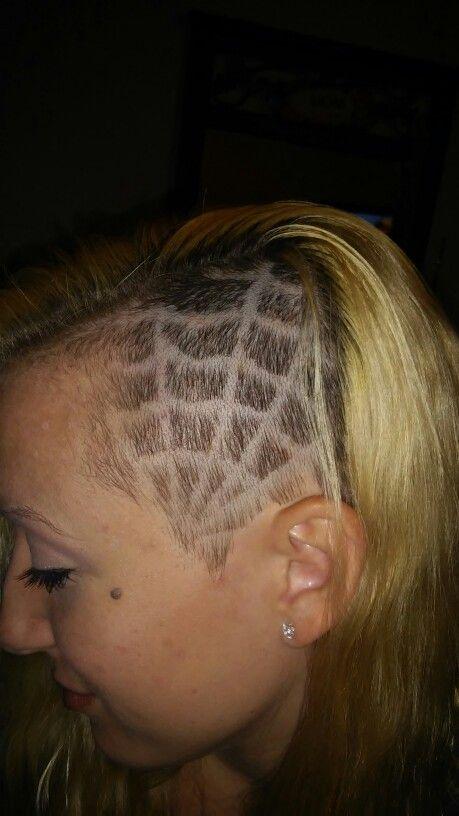 web hair design shaved