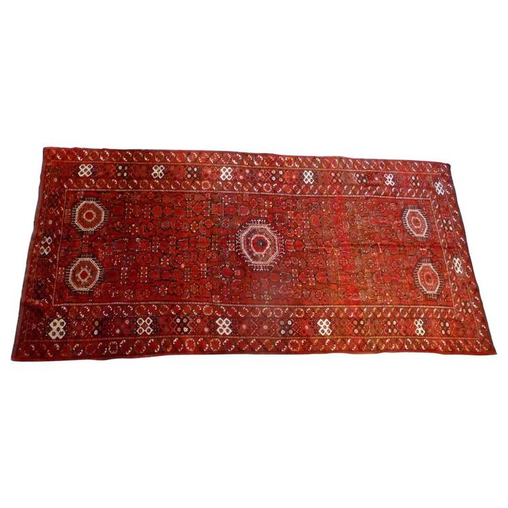 Large Antique Tribal  Beshir Rug from Central Asia | From a unique collection of antique and modern central asian rugs at https://www.1stdibs.com/furniture/rugs-carpets/central-asian-rugs/