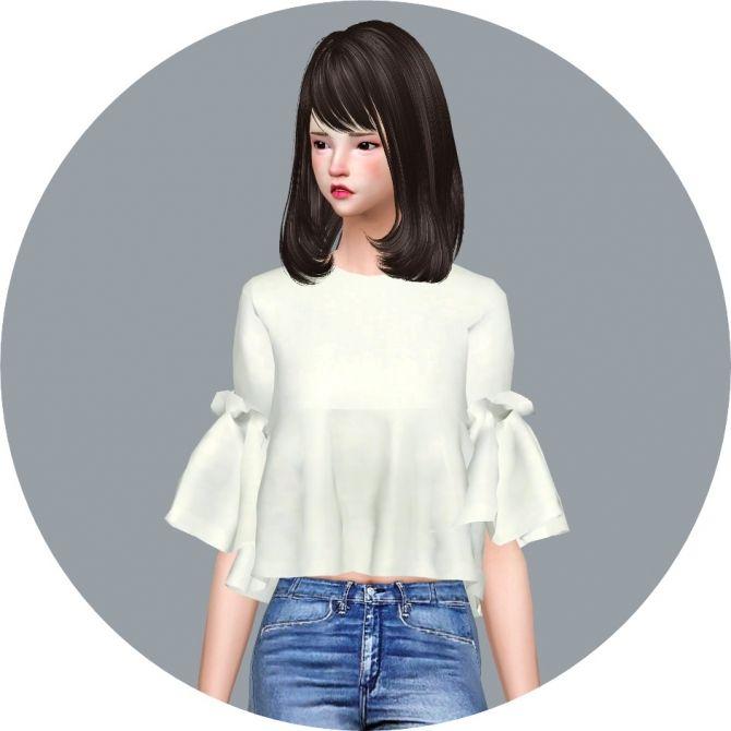Ruffle Blouse at Marigold via Sims 4 Updates