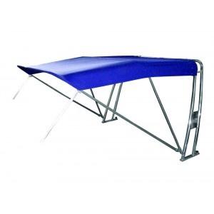 Bimini con barra antivuelco, 2 arcos y toldo de sol a proa, longitud de 190cm. Disponible en varias medidas y colores. A partir de 1424€.