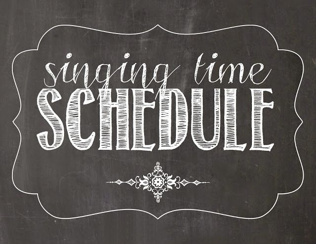 Camille's Primary Ideas: July 2015 Singing Time Schedule