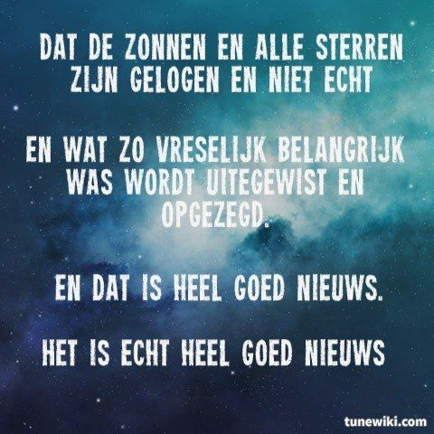 "spinvis  -- #LyricArt for ""heel goed nieuws"" by Spinvis"