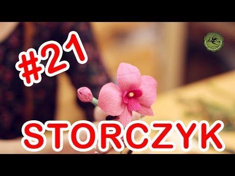 Kwiatki z bibuły #21 - storczyk - YouTube