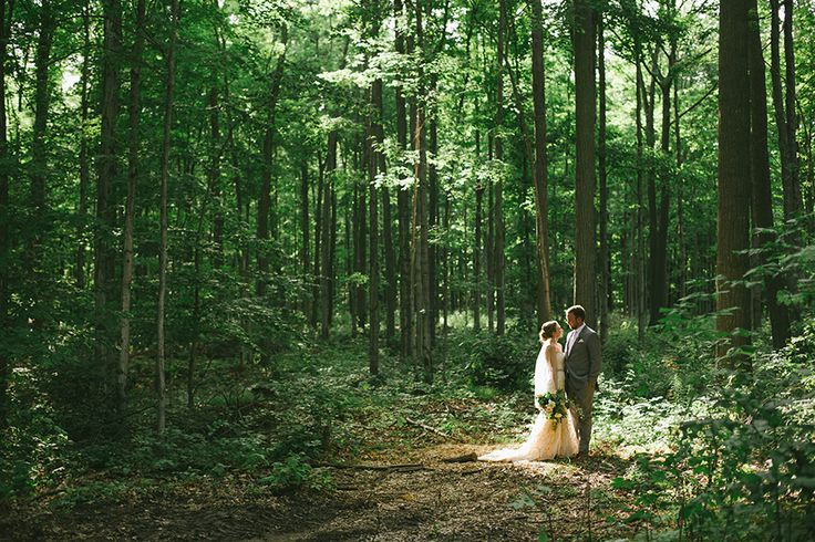 Can we find a good forest spot? Read More on SMP: http://www.stylemepretty.com/canada-weddings/2016/02/01/romantic-whistle-bear-golf-club-wedding/