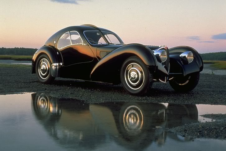 The Bugatti Type 57SC Atlantic. One of the most art deco cars ever created. Ralph Lauren has one of these...
