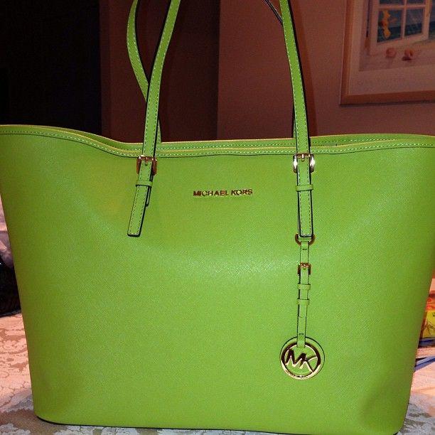 24b3014034ee Lime Green MK purse! | MK Addiction | Pinterest | Michael kors outlet, It