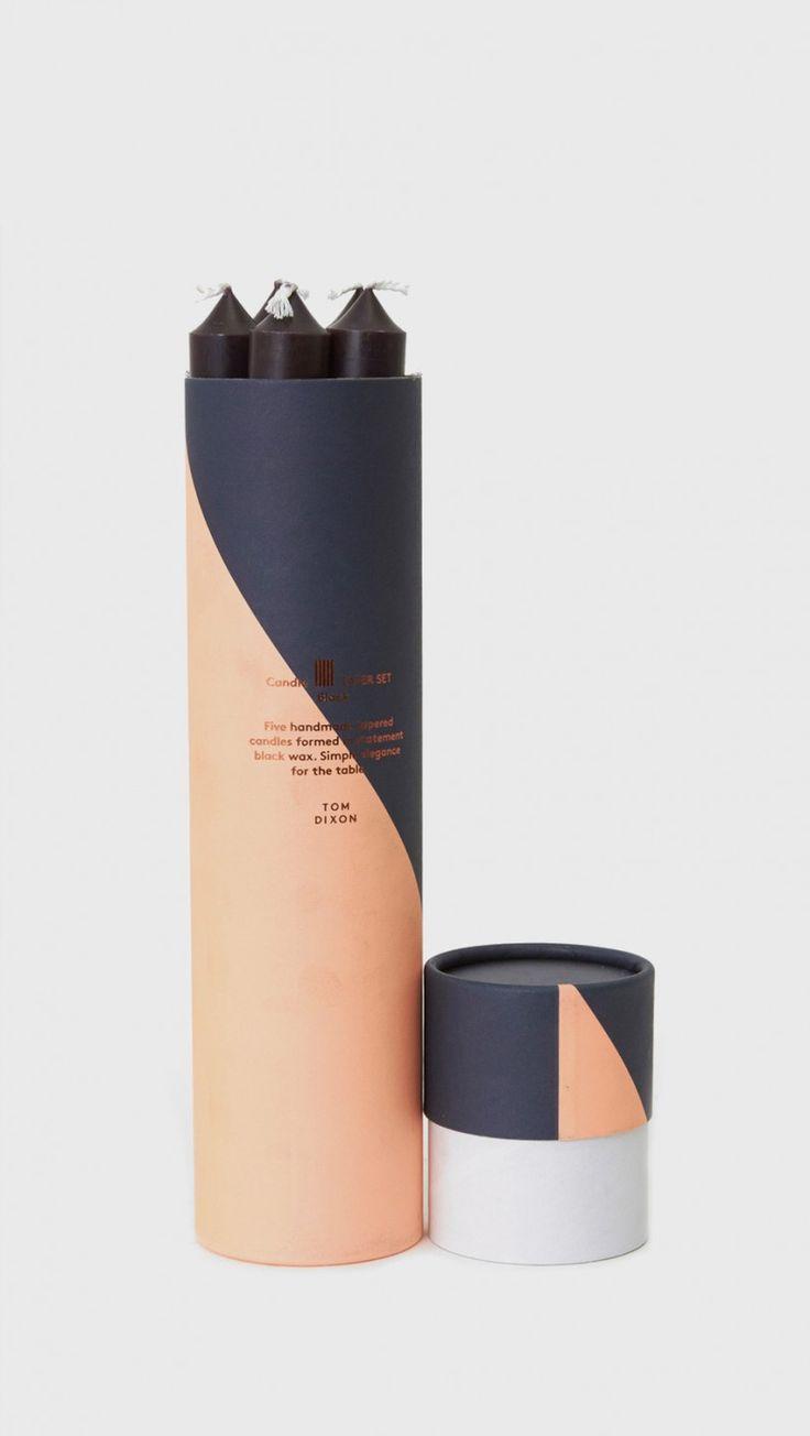 Tom Dixon Taper Candle Set in Black | The Dreslyn