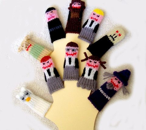 """""""wizard"""" finger puppets (totally HP) $25"""