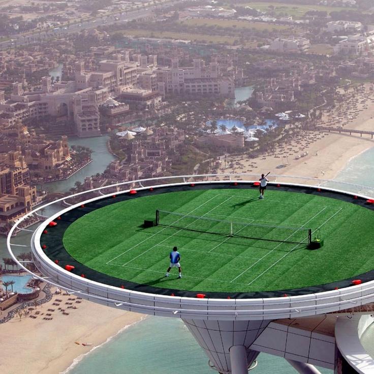 Tennis Court At Dubai Tennis Pinterest Tennis Burj