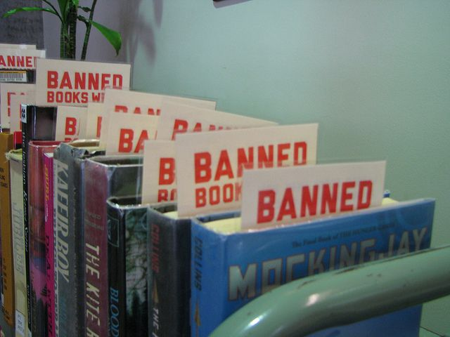 Remember it's Banned Book Week. Banned Book week 2012 by Kennedy Library, via Flickr