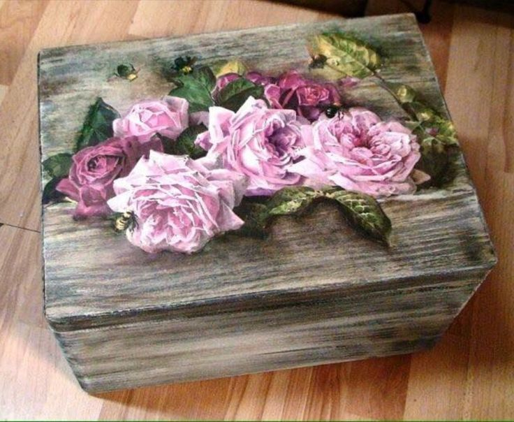 Talented decoupage DIY ALTERED WOOD BOX