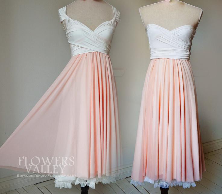 Chiffon Infinity Dress: SALE-Two Toned Convertible Wrap Dress / Bridesmaid Dress